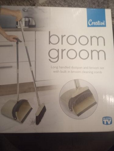 Broom Groom long handled dustpan and brush set.