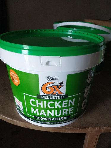 Pelleted  Poultry Manure 8 kg tub