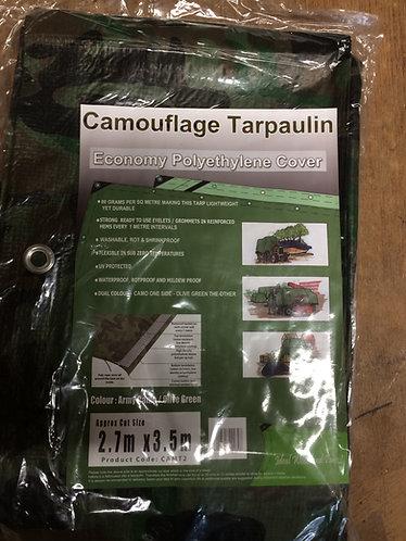 Tarpaulin Camouflage 2.7m x 3.5 m Basha