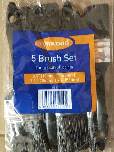 5 piece paint brush set