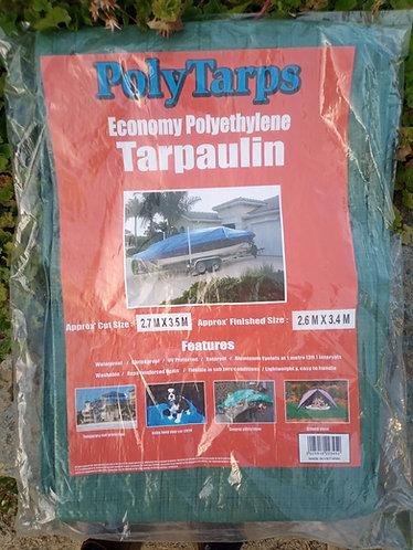 Economy 2.7 m x 3.5 m green Tarpaulin