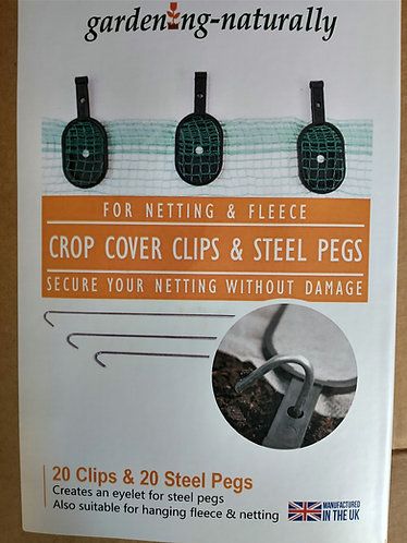 Crop Cover Clips and Steel Pegs