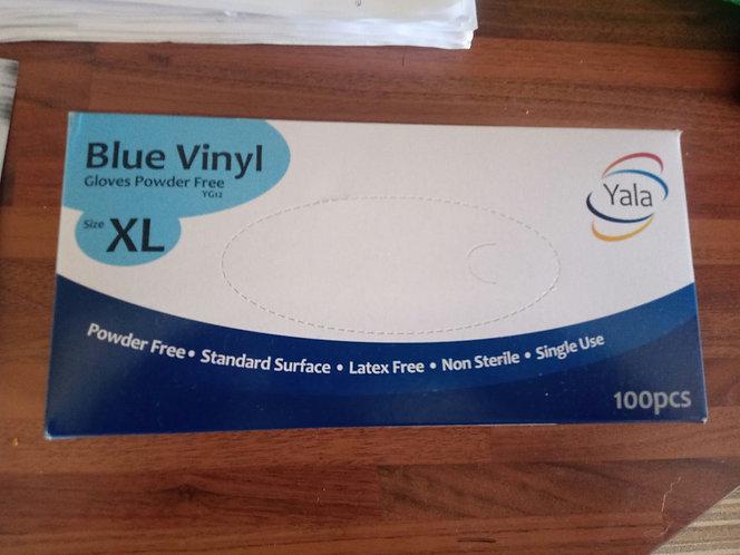 Disposable Blue Vinyl    gardening gloves XL