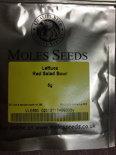 Lettuce seed 5g  Red Salad Bowl fast growing variety