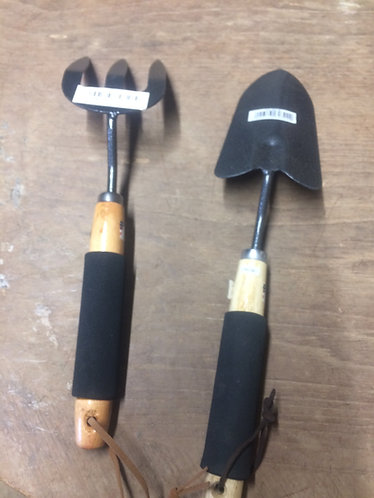 Fork and Trowel combination set for garden use , soft grip