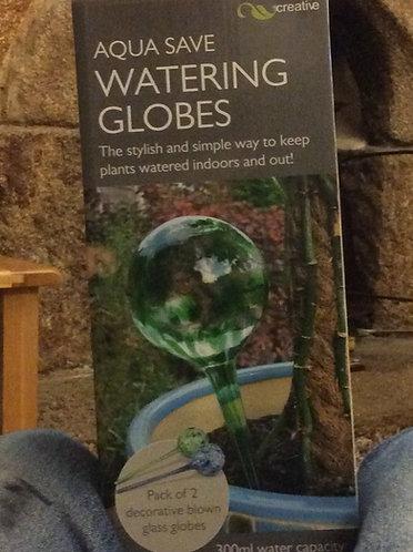 Aqua save Watering Globes decorative blown glass
