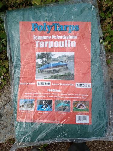 Economy 3.5 m x 5 .4 m green Tarpaulin