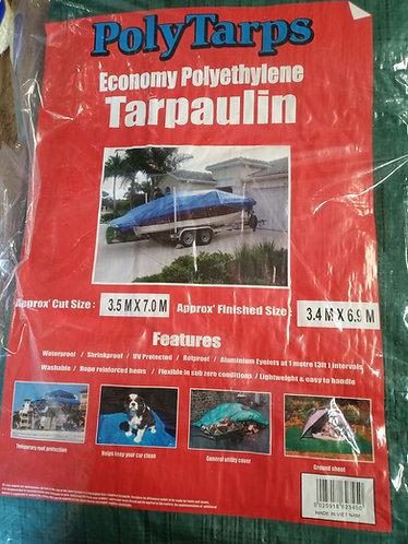 Economy 3.5 m x 7.0 m green Tarpaulin