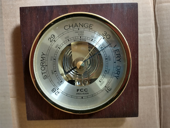 FCC Barometer Cornish Made
