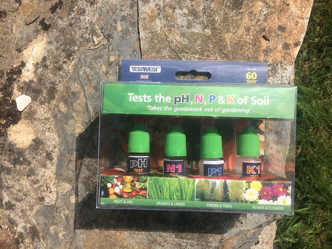 Soil testing kit for N , P and  K + PH levels in your garden