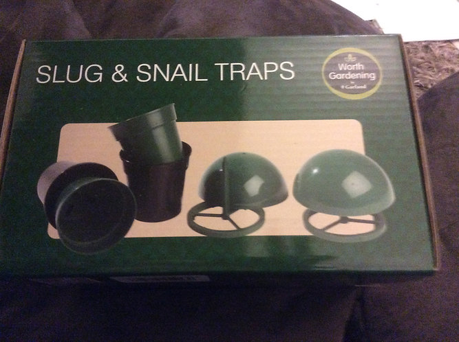 Slug and Snail traps protect your plants.