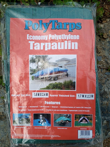 Economy 1.8 m x 2.4 m green Tarpaulin