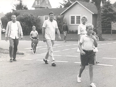 President Kennedy Takes Caroline and Friends to Candy Store in Massachusetts