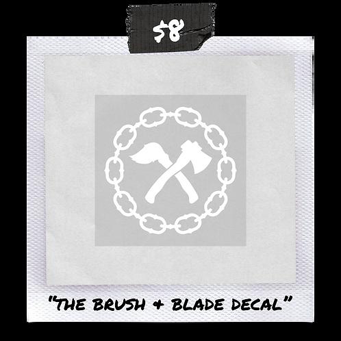 Brush & Blade Decal