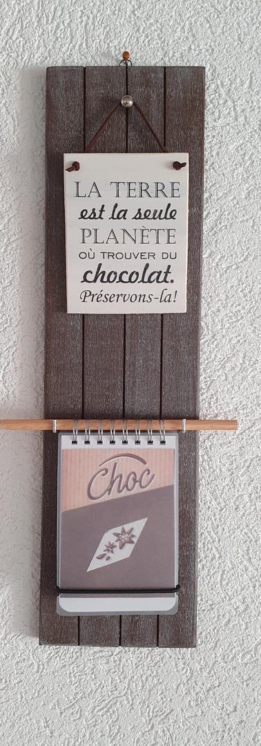 Support à bloc-notes,  Chocolat Tons bruns Dim. 40 cm/ht x 10 cm