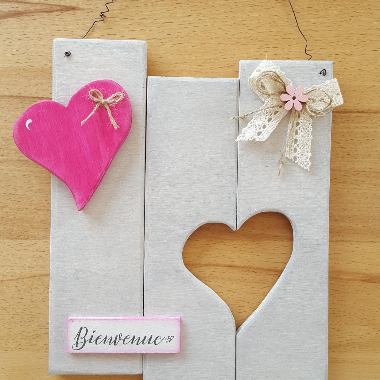 Coeur rose env. 20 x 25 cm