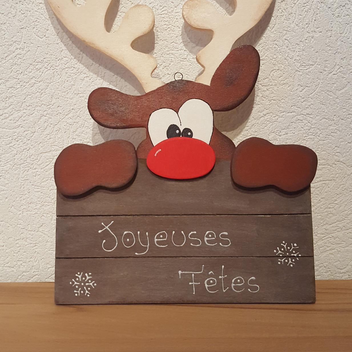 "Renne ""Joyeuses Fêtes"""
