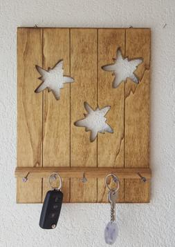 Edelweiss,  Support à clés huilé, couleur miel