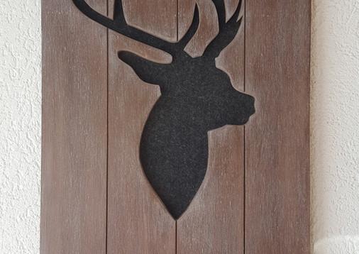 Cerf,  Support à clés tons bruns