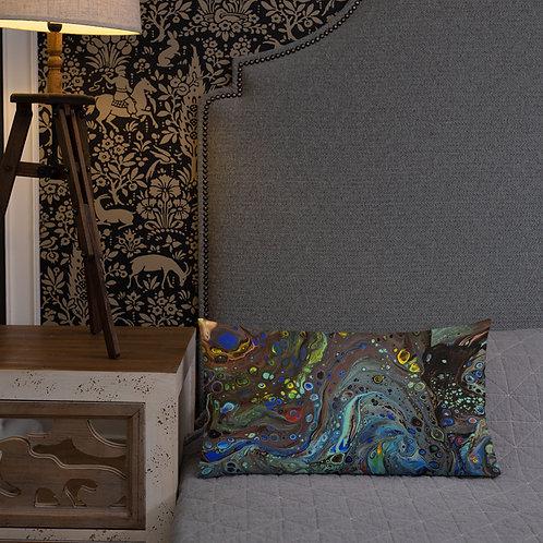 Colorful Flow Art Premium Pillow