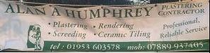 Alan A Humphrey Plastering