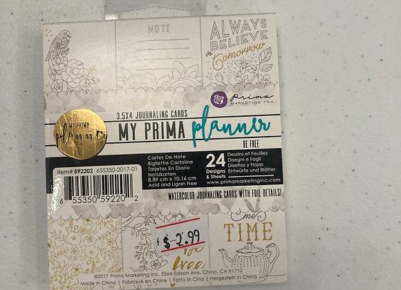 Prima Planner Be Free Journaling Cards