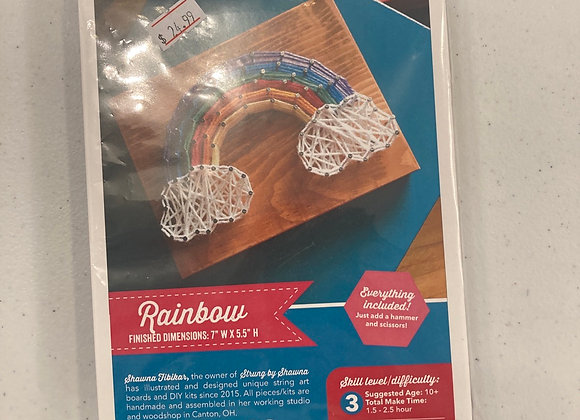 Strung By Shawna DIY String Art Kit Rainbow Cloud