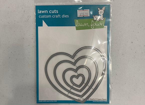 Lawn Fawn Just Stitching Hearts Die Set