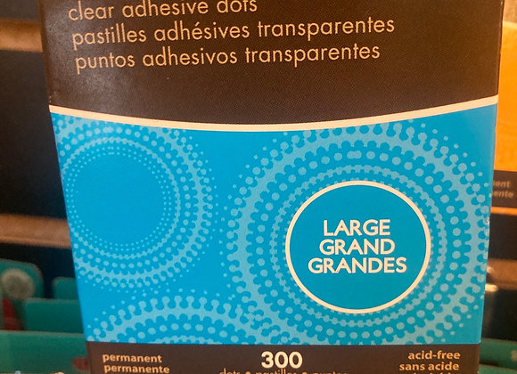 Zots Clear Adhesive Dots Large 1/2 X 1/64? Thick 300/Pkg