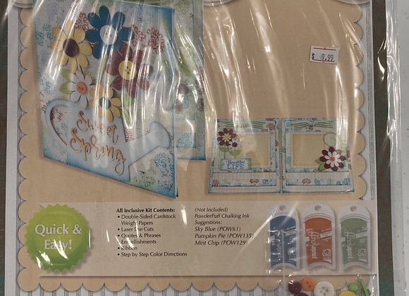 Quick Quotes Premier Altered Kit Waterfall Book Sweet Spring