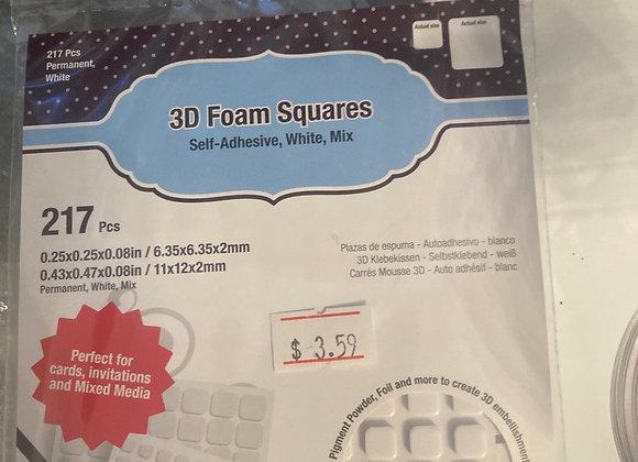 Scrapbook Adhesives 3D Foam Squares White Multi Sizes