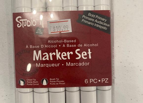 Studio 71 Marker Set Bold Primary