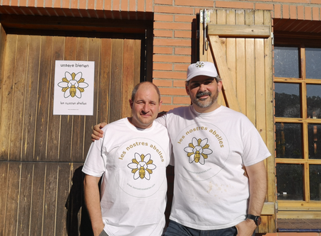 Pedro und spanische Bienen in Katalonien