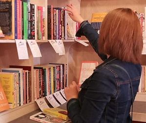 Jen Book Shopping