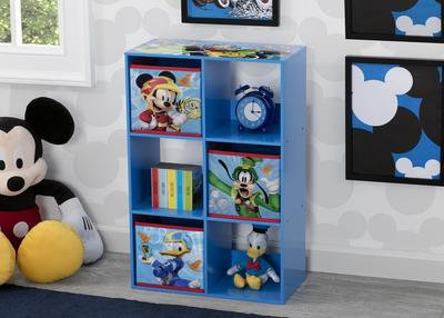 Mickey Mouse 6 Cubby Storage Unit