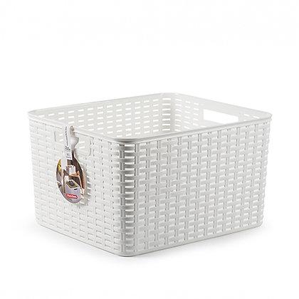Rattan Basket 28.5 L WHITE