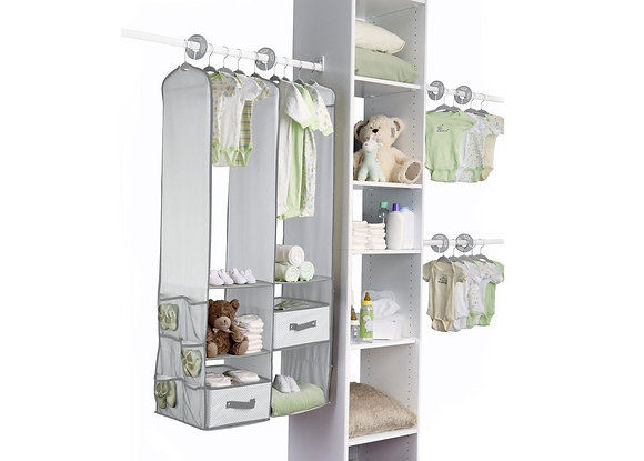 Beige 24 Pc Nursery Closet Set