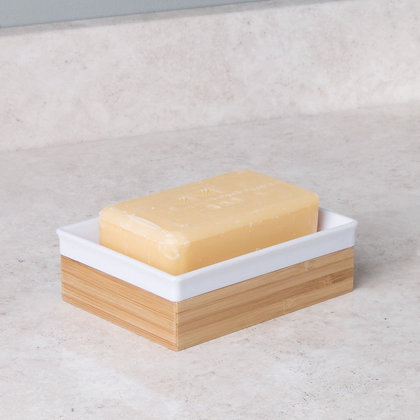 Soap Dish With Bamboo