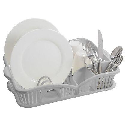 Plastic Dish Rack with Drainboard