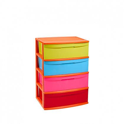 Storage unit Nilo with 4 drawers