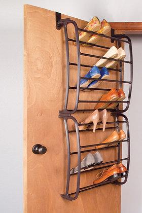 24 Pr Over Door Bronze Shoe Rack