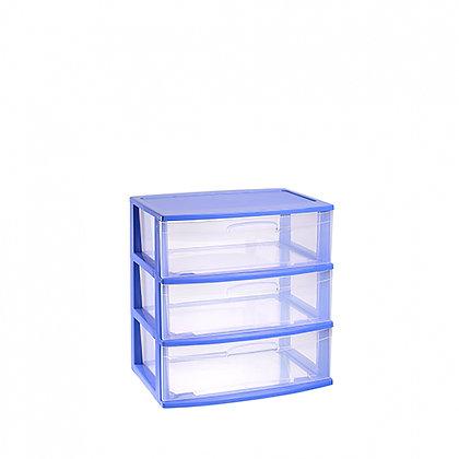 Storage unit Nilo 3 drawers BLUE CAJ