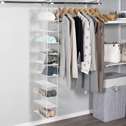 10 Shelf Clear Shoe Organiser