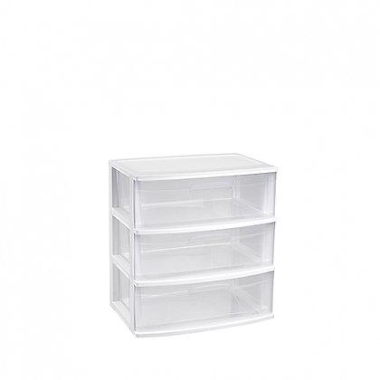 Storage unit Nilo 3 drawers WHITE