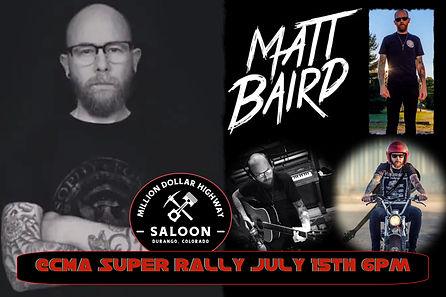 Matt Baird CMA Super Rally Poster 7-15-2