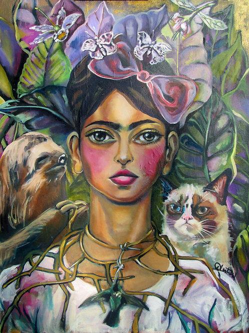 Frida, Sloth, and Grump Cat