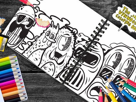 Local Graphic Designer Creates The Wynwood Coloring Book for Adults