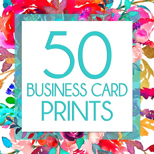 50 Business Card Prints