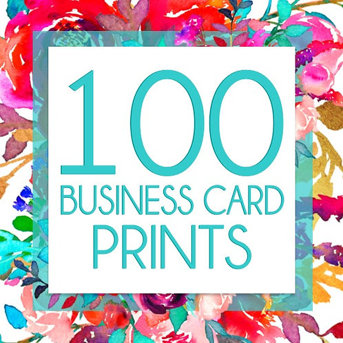 100 Business Card Prints
