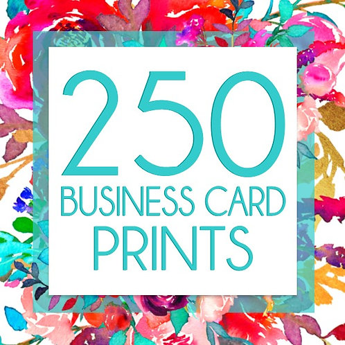 250 Business Card Prints